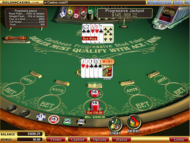 Screenshot of a typical online casino, showing also a big cash win.