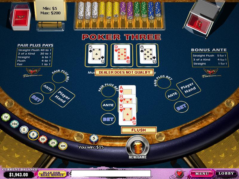 borgata 3 card poker rules 65