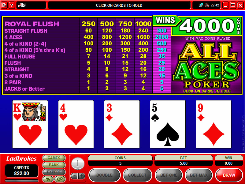 All in strategy poker antique slot machine prices