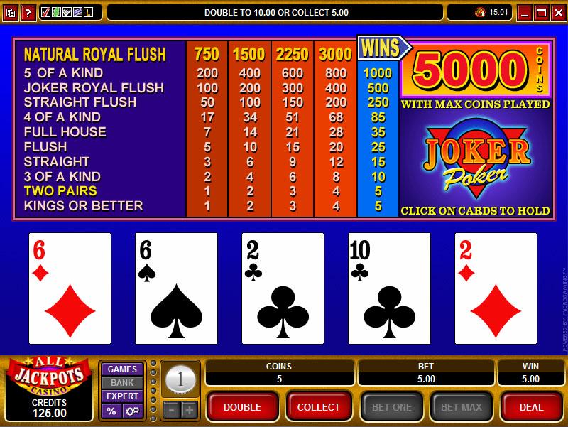 Jokers wild video poker game playboy poker kit